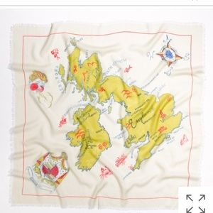 UK map Storyteller Scarf 🇬🇧 Madewell